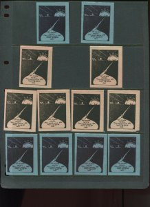 VINTAGE LOT OF 12 1931 MAGIC Poster Stamps SOCIETY OF AMERICAN (L1117)
