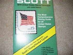 Scott Stamp Catalog. Illustrated. 1979 United States and UN catalog