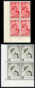 Gold Coast 1948 Royal Silver Wedding SG147/8 U/M (MNH) BLOCK OF 4