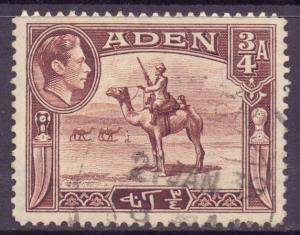 Aden Scott 17 - SG17, 1939 George VI 3/4a used