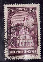 Monaco:SC#128-used-5fr violet-Church of St. Devote-