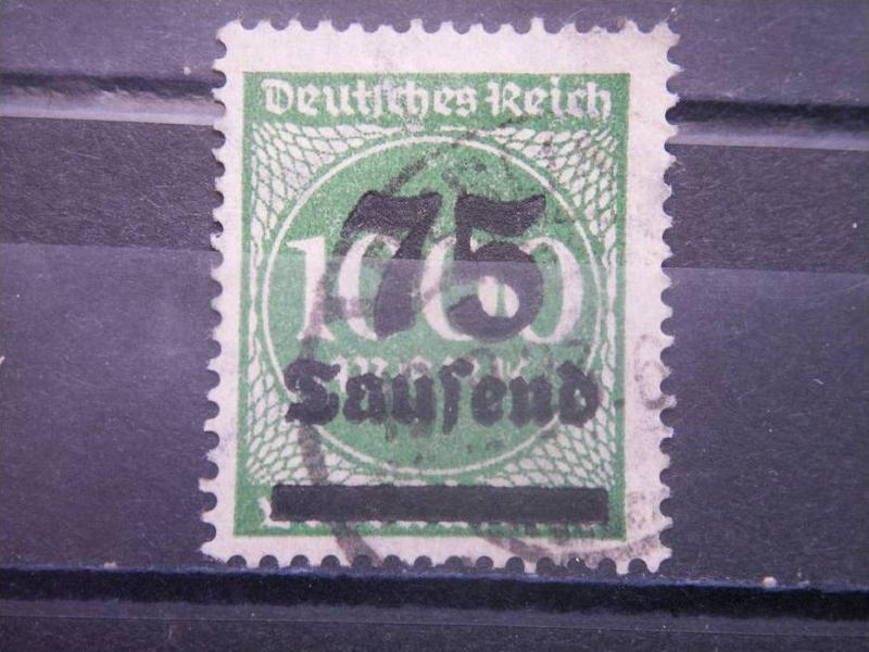GERMANY, Empire, 1923, used 75th m on 1000m, Surcharge 252