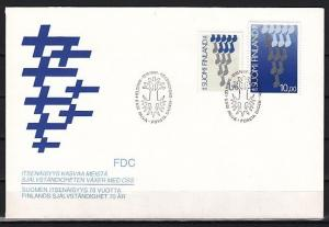 Finland, Scott cat. 760-761. National Independence issue on a First Day Cover.