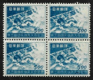 Doyle's_Stamps: 1948 Japanese Swimmers Block of 4, #417**