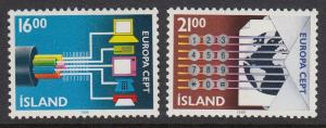 Iceland 660-1 Communications mnh