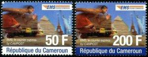 HERRICKSTAMP CAMEROUN Sc.# 979-80 2014 Pyramid, Statue of Liberty (E.M.S.)
