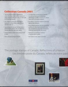 Souvenir Collection The Postage Stamps of Canada 2001 - USC #AC44 Cat. $90.  NH