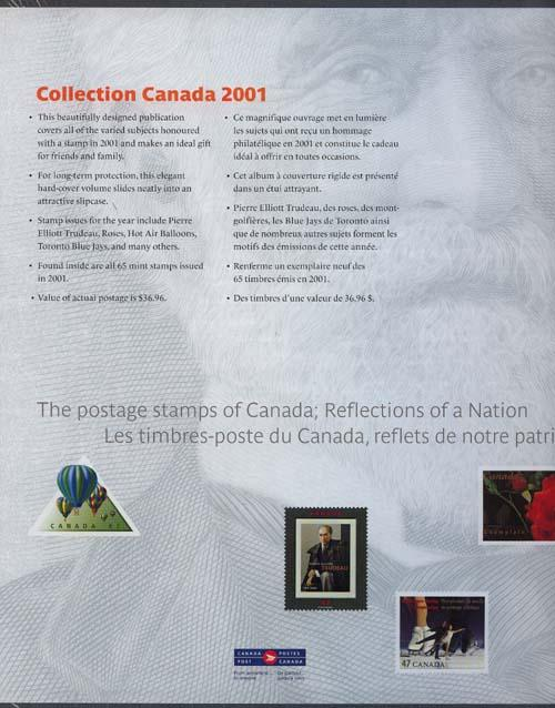 Souvenir Collection The Postage Stamps of Canada 2001 USC #AC44 Cat. $90.00