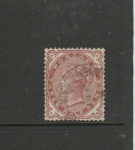 GB 1880/1 1 1/2d Venetian red cds used SG 166, full perfs