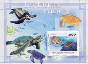 Togo MNH S/S Sea Turtles Reptiles Marine Life 2011