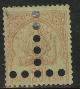 Tunis Tunisia Scott JA17a used postage due 1888 stain on bk
