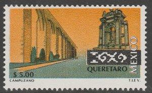 MEXICO 1975 $5.00 Tourism Queretaro, acqueduct, monume. Mint, Never Hinged F-VF.