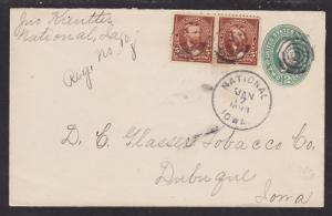 US Sc 270 Pair Uprates U311 Registered Cover, National, IA DPO