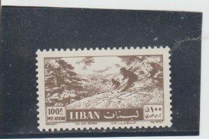 Lebanon  Scott#  C235  MNH  (1957 Skiing)