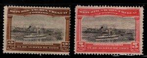 Uruguay Scott 177-178 MH* Port of Montevideo stamp set