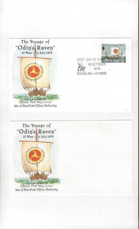 Isle of Man FDC 162 Voyage of Odin's Raven  Official Cachet