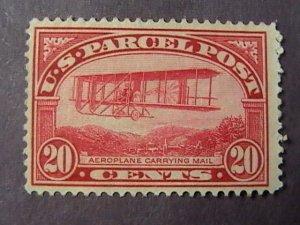 U.S.# Q8-MINT/NO GUM(UNUSED)----CARMINE ROSE--- $.20-PARCEL POST---1913