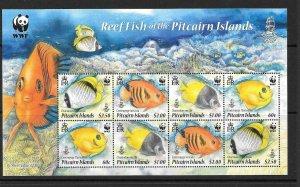 PITCAIRN ISLANDS SGMS811 2010 WWF REEF FISH MNH