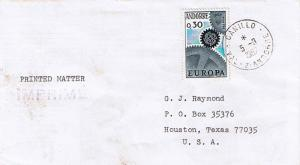 Andorra French Administration 30c Europa 1967 Canillo, Val - d'Andorre Printe...