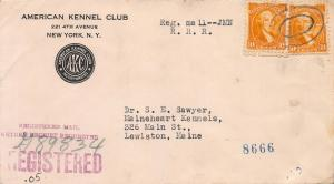 U.S., Scott #715 Used on 1932 Kennel Club, Registered Cover, Very Fine