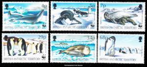 British Antarctic Territory Scott 192-197 Mint never hinged.
