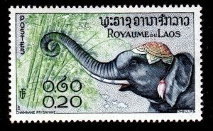 Laos Sc. Scott 42 20c MH* Northwestern Indochina 1958 Elephants A4P39F31