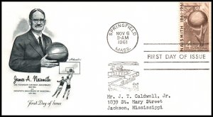 US 1189 Basketball Artmaster Typed FDC