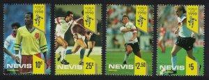Nevis World Cup Football Championship Italy 4v 1990 MNH SG#559-562