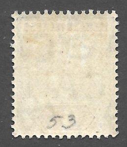 Doyle's_Stamps: 1911 MH Leeward Islands King Edward VII 6d Stamp, Scott #36*