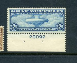 Scott C15 Graf Zeppelin Mint Plate # Stamp  (Stock #C15-74)