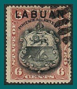 Labuan 1894 Arms, p15, cancelled  #53,SG67
