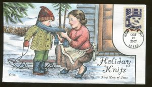 2007 New York - Holiday Knits - Snowman - Collins FDC