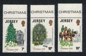 Jersey Horses Christmas 3v Top Margins SG#286-288