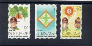 1974 Boy Scouts Surinam 50th anniversary