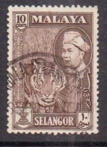 Malaya-Selangor  #107  used  (1957)  c.v. $0.25