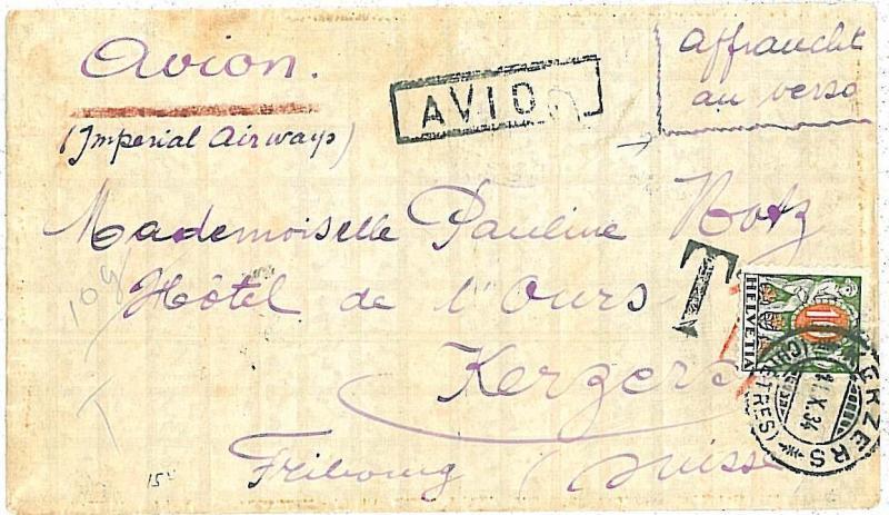 02422 BELGIAN CONGO - BELGE BELGISCH - COVER TO SWIZZERLAND