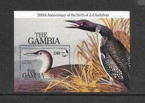 BIRDS -  GAMBIA #555  AUDUBON-COMMON LOON  MNH