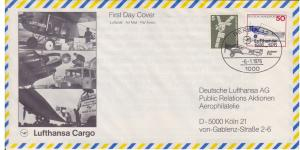 Lufthansa 50th Anniversay, First Flight with Junkers F13, Postmark Berlin, 1976