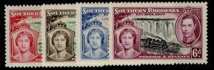 SOUTHERN RHODESIA GVI SG36-39, CORONATION set, NH MINT.