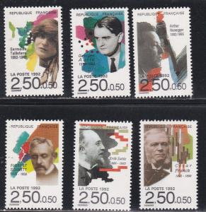 France # B642-647, Composers, NH, 1/2 Cat.