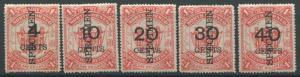 North Borneo 1895 Surcharges SG 87s-91s SPECIMEN overprints