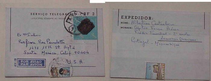 MOZAMBIQUE  TELEGRAF 1973 L.M.