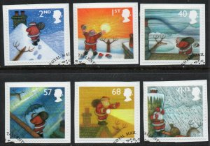 2004 Sg 2495/2500 Christmas Fine Used Set of 6 On Pieces