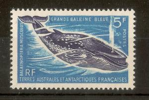 FSAT 1966 5fr Blue Whale SG26 MNH Cat£32