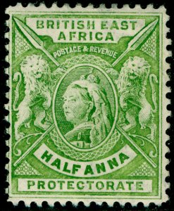 BRITISH EAST AFRICA SG65, ½a yellow-green, M MINT.