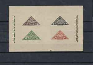 Costa Rica 1937 MNH Imperf Stamps Sheet Ref: R5763