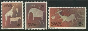 SOUTH WEST AFRICA Sc#367-369 SG264-266 1974 Rock Carvings OG Mint NH