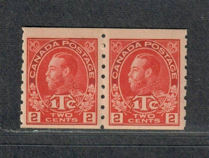 Canada Sc#MR6 M/NH/F-VF, Coil Pair War Tax, Cv. $660