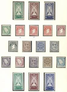 IRELAND COLLECTION 1937-1989, in Lindner Hingeless Album, Mint, Scott $2,281.00