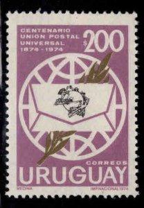 Uruguay Scott 893 mnh** upu stamp
